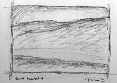 South Mountain 4 | Pencil Sketch