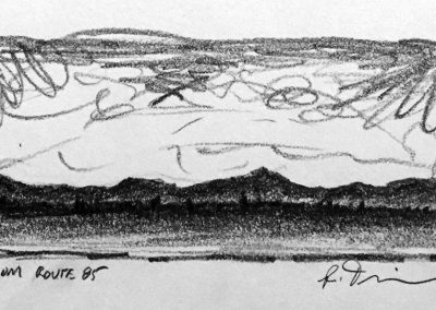 From Route 85 | Pencil Sketch