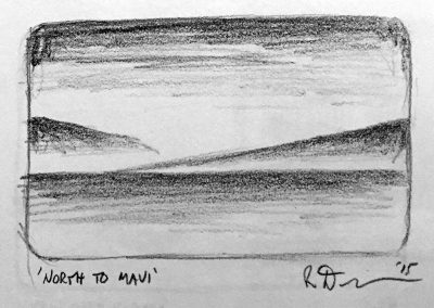 North to Maui 1 | Pencil Sketch