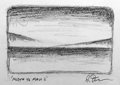 North to Maui 2 | Pencil Sketch