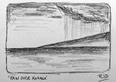 Rain Over Kohala 1 | Pencil Sketch
