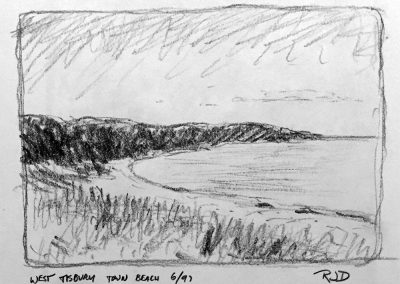 West Tisbury Town Beach | Pencil Sketch