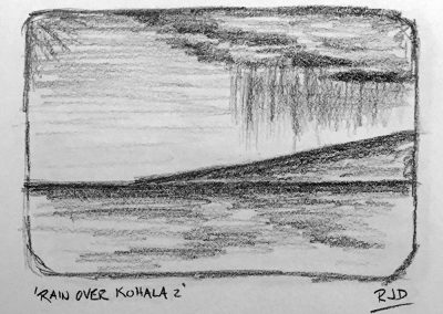 Rain Over Kohala 2 | Pencil Sketch