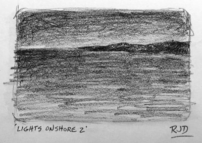 Lights Onshore 2 | Pencil Sketch