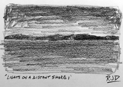 Lights on a Distant Shore 1 | Pencil Sketch