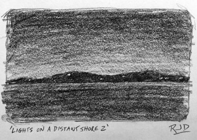 Lights on a Distant Shore 2 | Pencil Sketch
