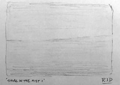 Shore in the Mist 1 | Pencil Sketch
