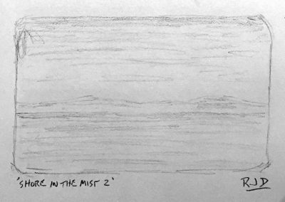 Shore in the Mist 2 | Pencil Sketch