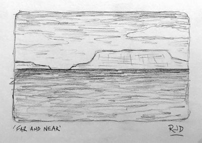 Far and Near | Pencil Sketch