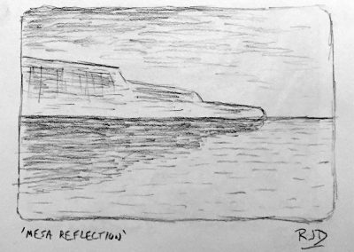 Mesa Reflection | Pencil Sketch