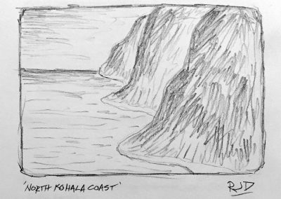 North Kohala Coast 1 | Pencil Sketch