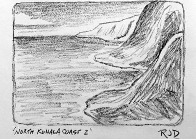 North Kohala Coast 2 | Pencil Sketch