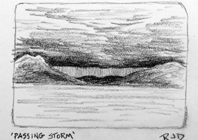 Passing Storm | Pencil Sketch