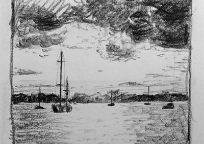 Edgartown Harbor | Pencil Sketch