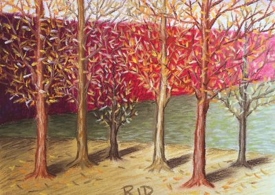 Autumn Trees 1 | Pastel | 9x12