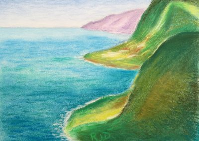 North Kohala Coast 1 | Pastel | 9x12