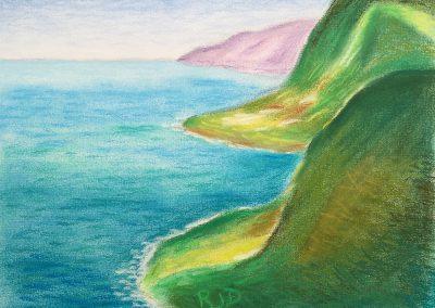 North Kohala Coast 1 | Pastel | 9x12