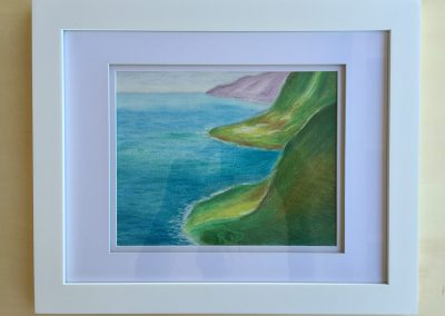 North Kohala Coast 1 | Pastel - Framed | 11x14