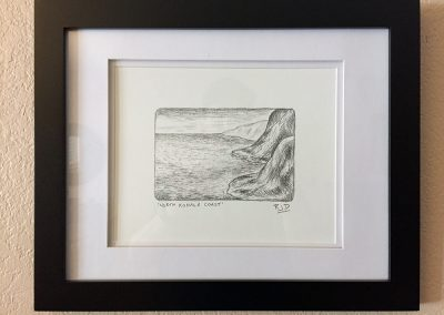 North Kohala Coast | Pencil - Framed | 9x12