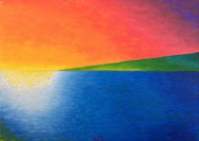 Kohala Sunset | Oil on Canvas | 18x24