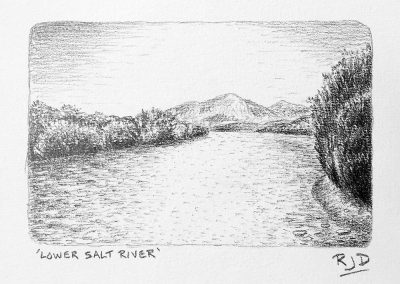 Lower Salt River | Pencil | 9x12