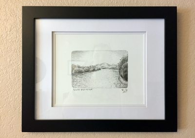 Lower Salt River | Pencil - Framed | 9x12