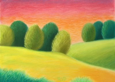 Near and Farther   Pastel   9x12
