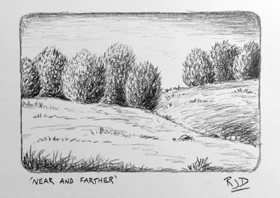 Near and Farther   Pencil   9x12