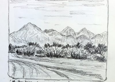 McDowell Mountains East | Pencil Sketch