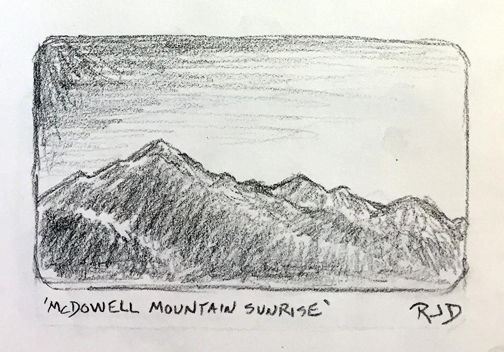 Sunrise Drawing Pencil - scenery