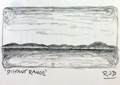 Distant Range | Pencil Sketch