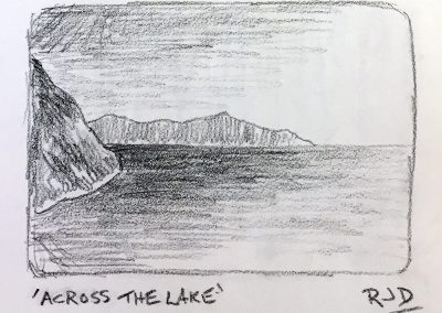 Across the Lake | Pencil Sketch