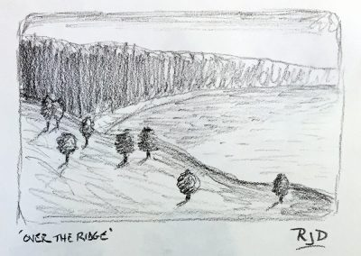 Over the Ridge | Pencil Sketch
