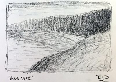 Blue Lake | Pencil Sketch