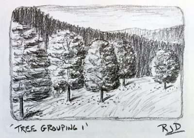 Tree Grouping 1 | Pencil Sketch