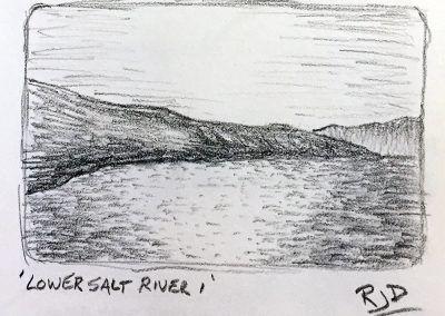 Lower Salt River 1 | Pencil Sketch
