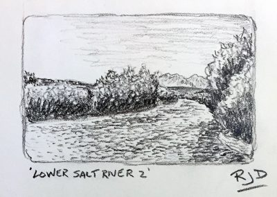 Lower Salt River 2 | Pencil Sketch