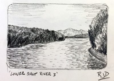 Lower Salt River 3 | Pencil Sketch