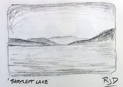 Bartlett Lake | Pencil Sketch