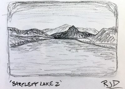 Bartlett Lake 2 | Pencil Sketch