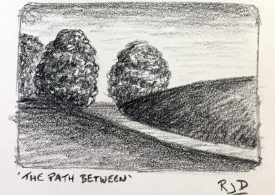 The Path Between | Pencil Sketch