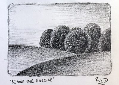 Beyond the Hillside | Pencil Sketch