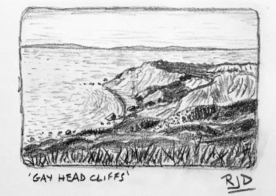 Gay Head Cliffs | Pencil Sketch