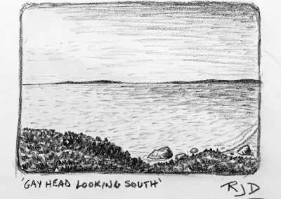 Gay Head Looking South | Pencil Sketch