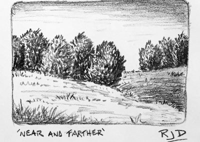 Near and Farther | Pencil Sketch