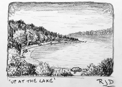Up at the Lake | Pencil Sketch