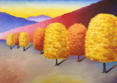 Tree Grouping - Autumn | Oil | 30x40
