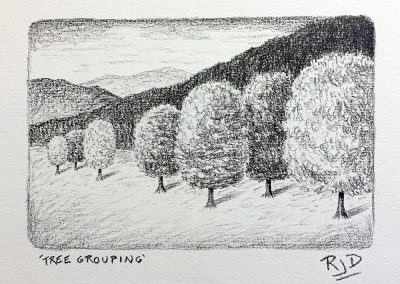 Tree Grouping | Pencil | 9x12
