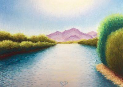 Lower Salt River | Pastel | 9x12