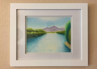 Lower Salt River | Pastel - Framed | 9x12